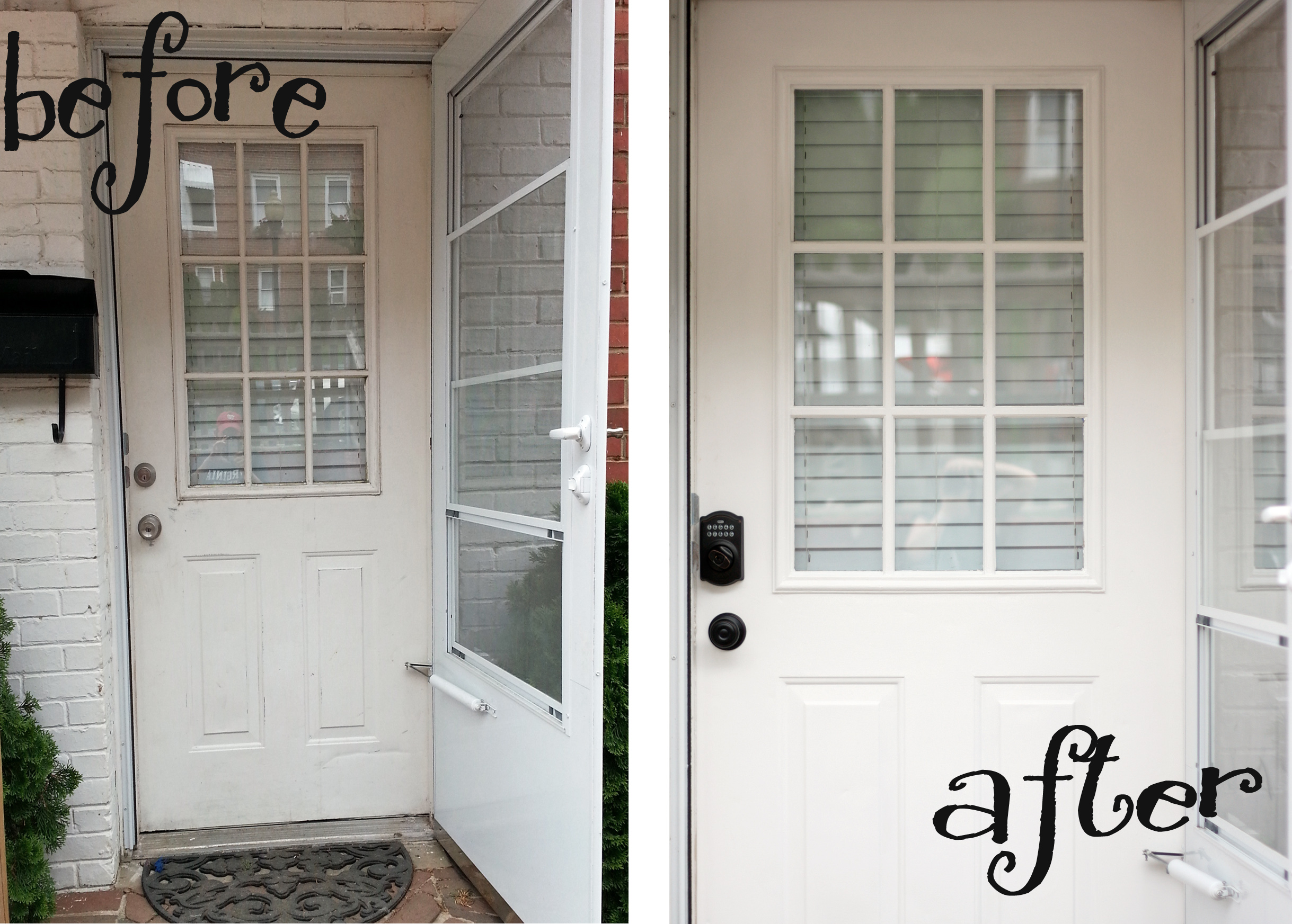 Front Door Before And After Awesome Before U After Front Door With Front Door Before And After