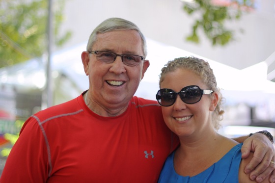 Shannon and Dad at the Irish Fest