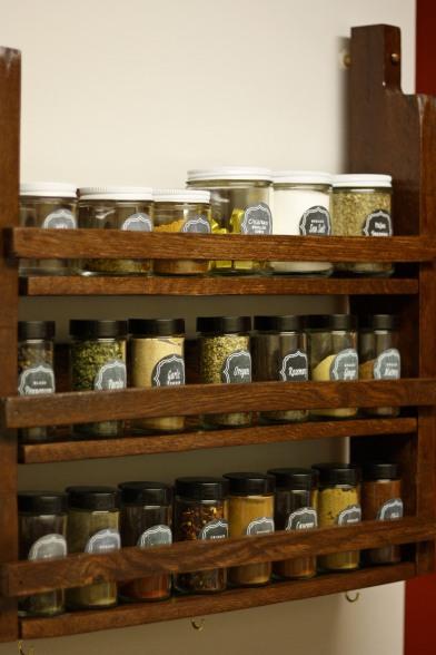 DIY Pallet Spice Rack 3